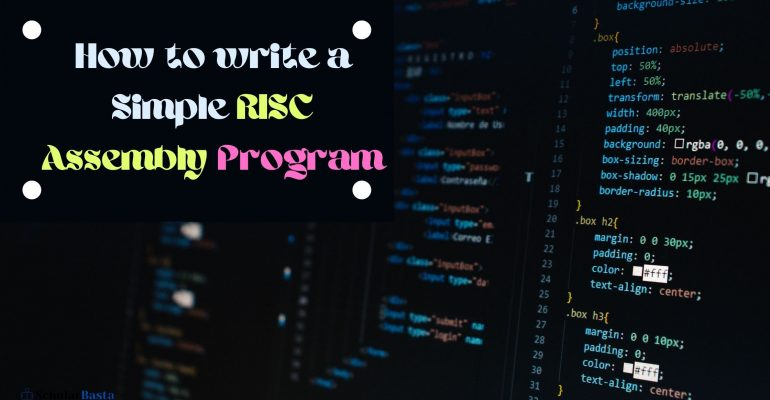 How to write a Simple RISC Assembly Program